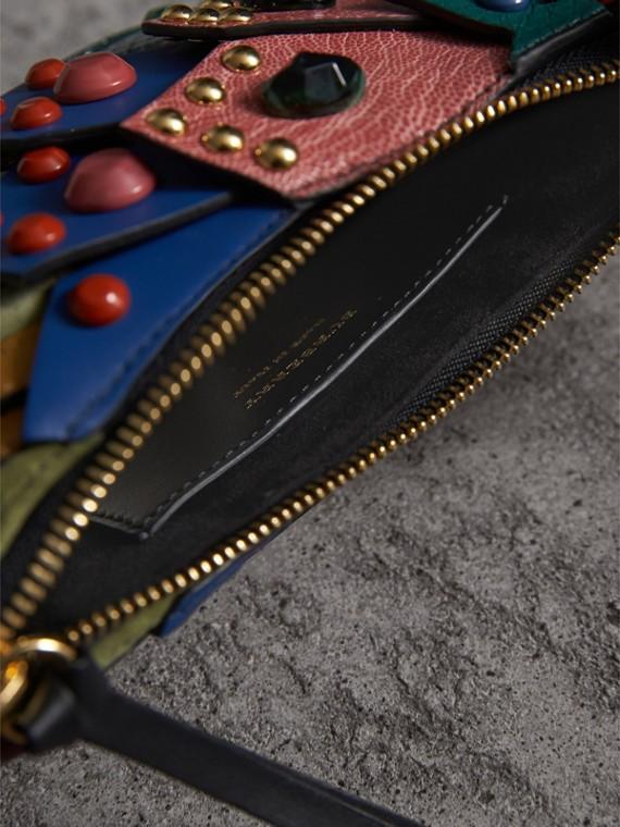 The Falcon – Crossbody-Tasche aus Natternleder und Leder (Blaugrün) - Damen | Burberry - cell image 3