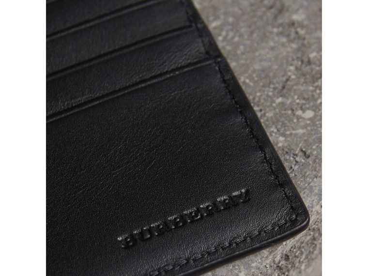 London Check International Bifold ID Coin Wallet in Navy/black - Men | Burberry - cell image 1