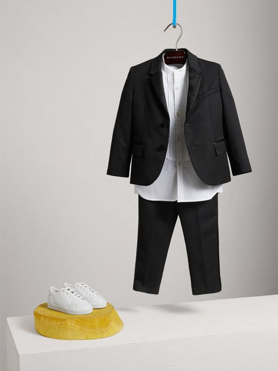 Wool Tuxedo Jacket in Black - Boy | Burberry United Kingdom - cell image 2