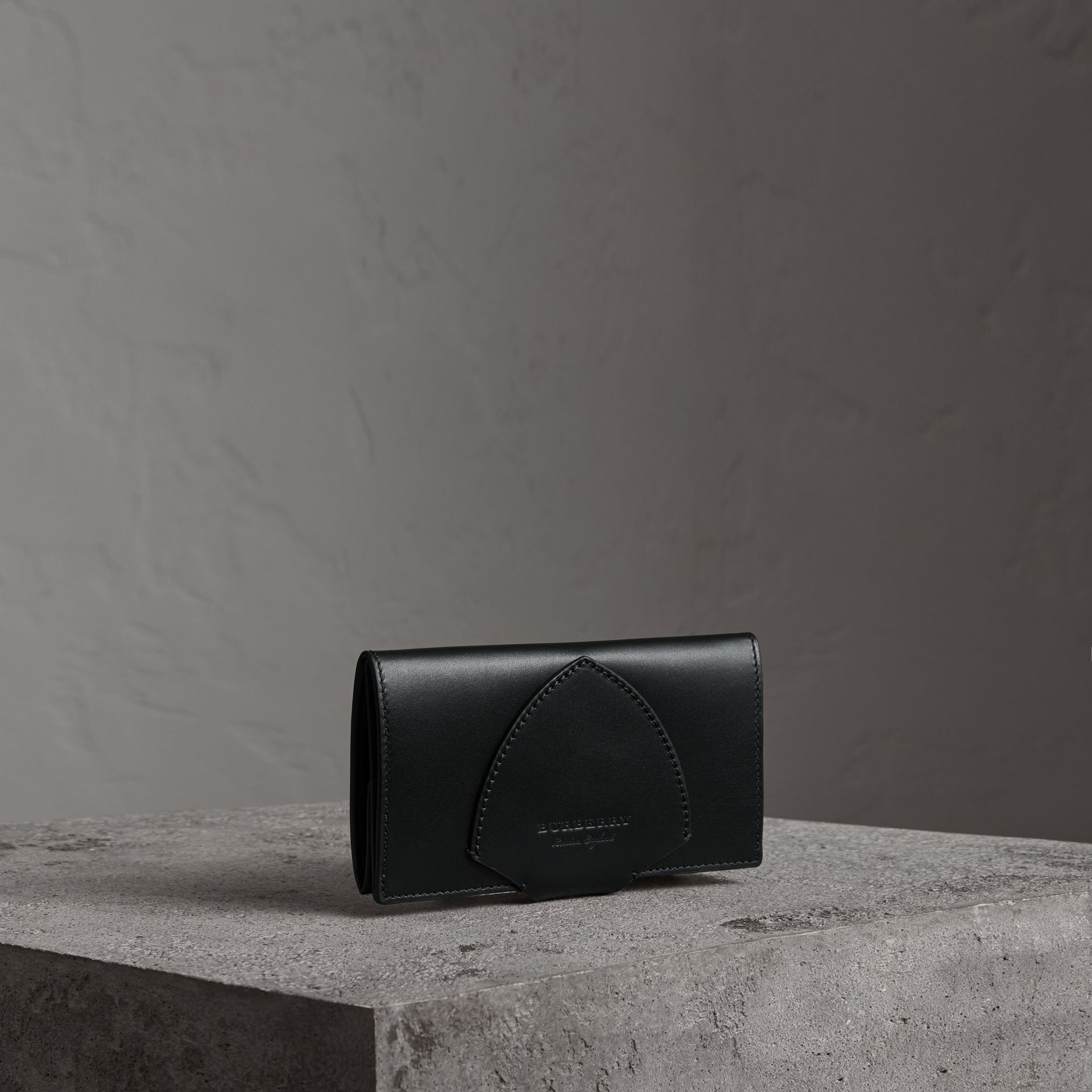 Equestrian Shield Leather Continental Wallet in Black - Women | Burberry - gallery image 0