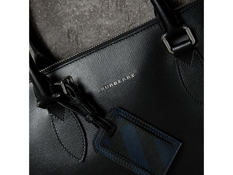 Large London Leather Briefcase in Black - Men | Burberry - cell image 1
