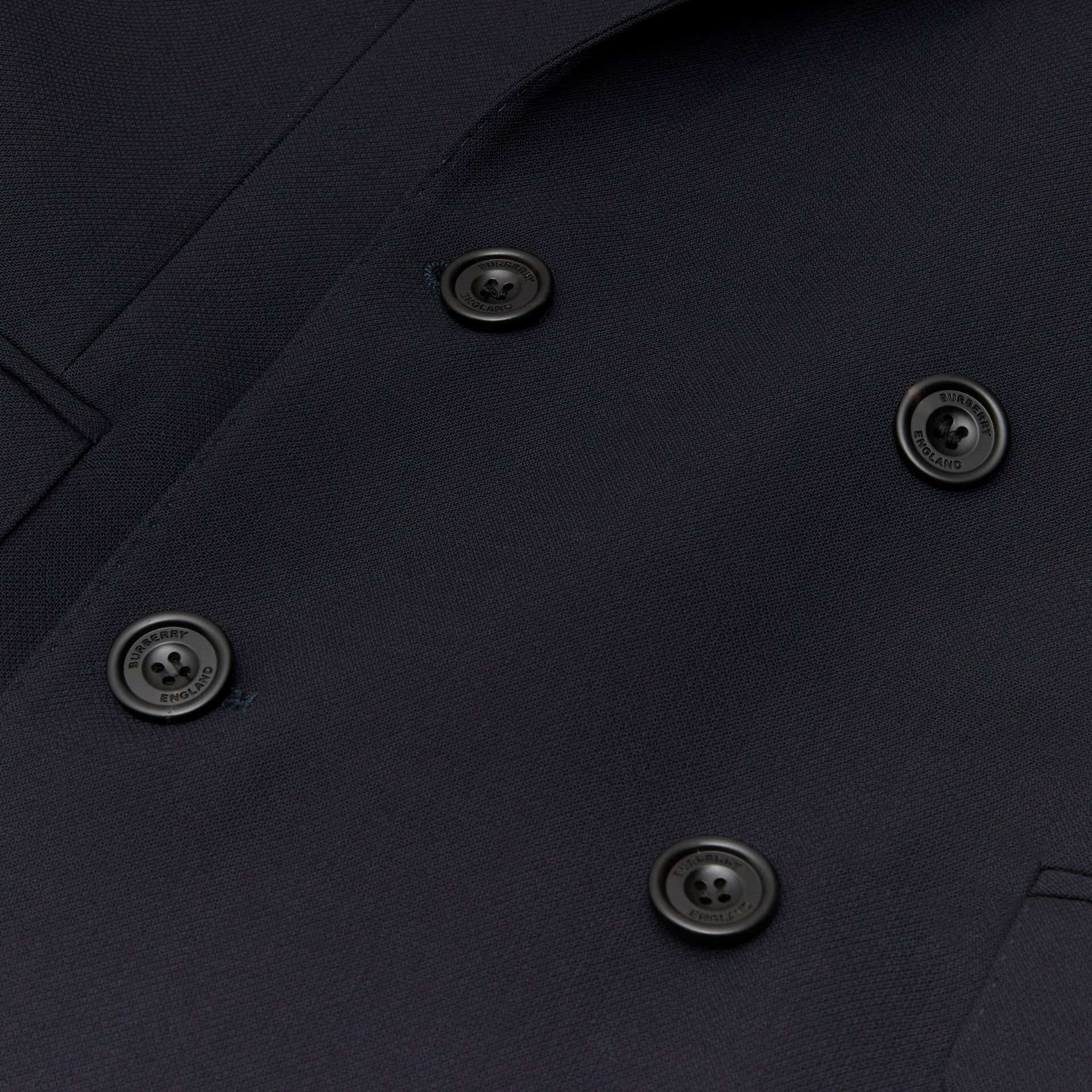 English Fit Double-faced Wool Crepe Tailored Jacket in Navy - Men | Burberry - gallery image 6