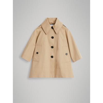 Detachable Hood Showerproof Cotton Swing Coat by Burberry