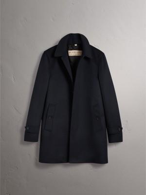 Wool Cashmere Car Coat in Navy - Men | Burberry