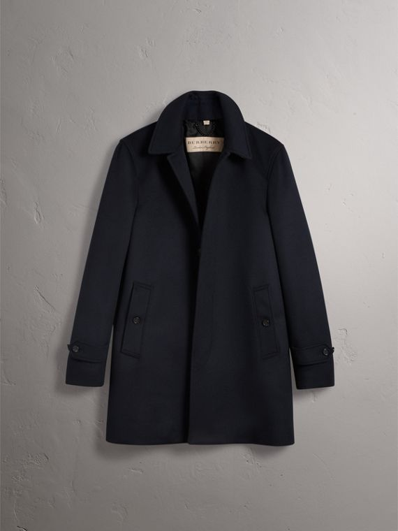 Wool Cashmere Car Coat in Navy - Men | Burberry Singapore - cell image 3