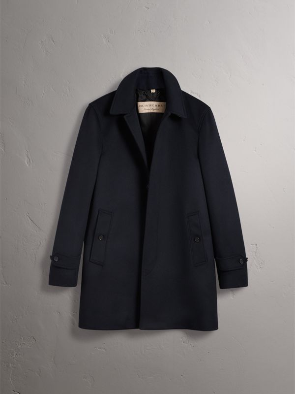 Wool Cashmere Car Coat in Navy | Burberry - cell image 3