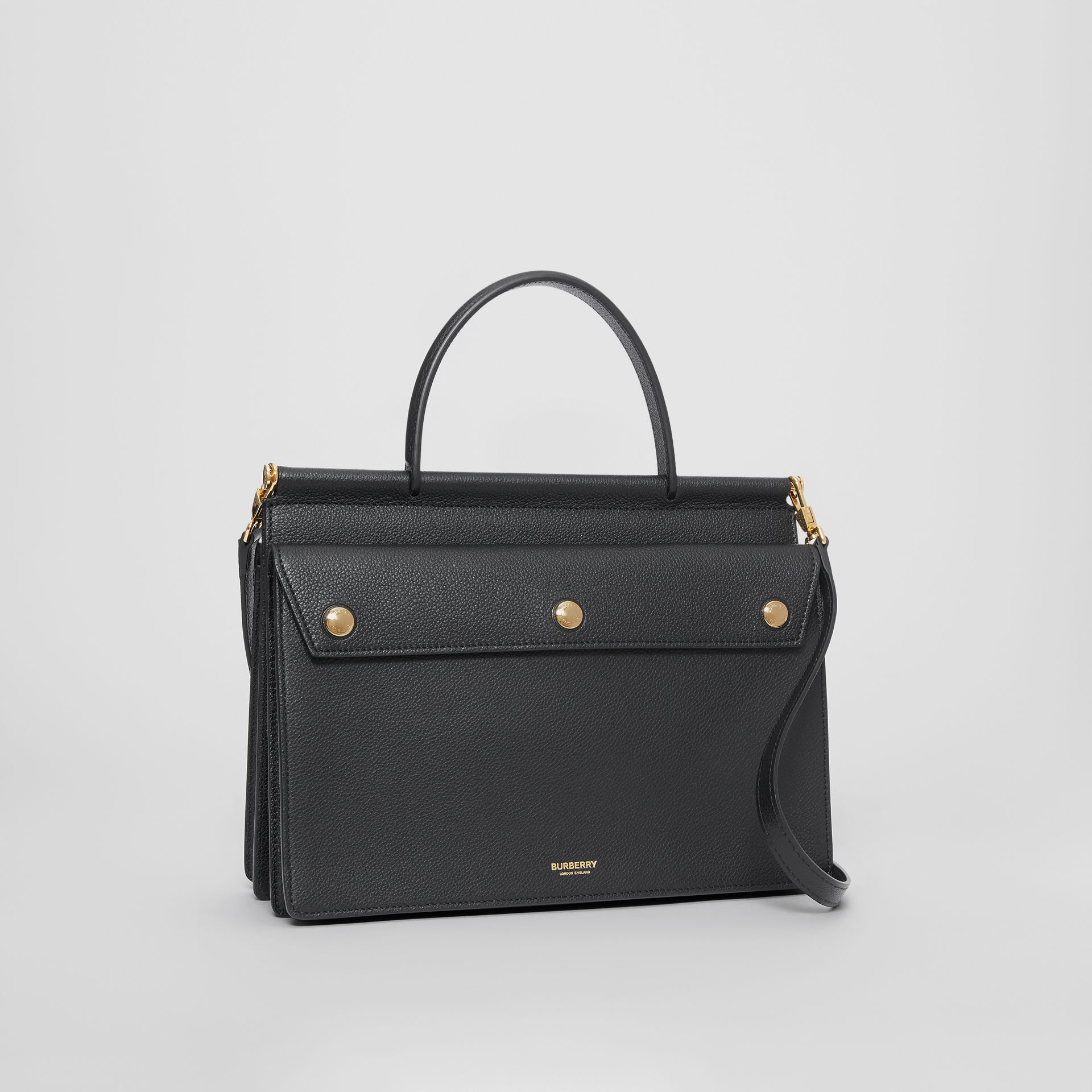 Small Leather Title Bag with Pocket Detail in Black - Women | Burberry Hong Kong S.A.R - gallery image 6