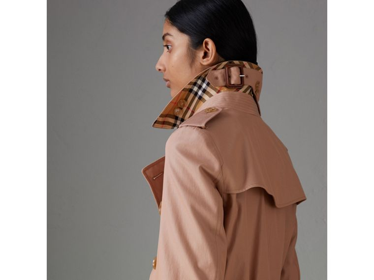 Tropical Gabardine Trench Coat in Pink Apricot - Women | Burberry Singapore - cell image 4