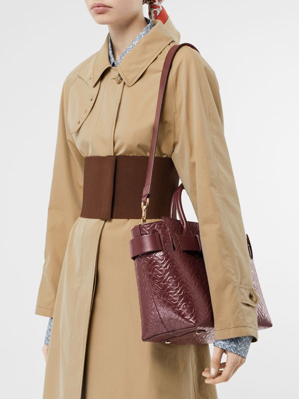 Borsa The Belt piccola in pelle con monogramma e tre borchie (Rosso Sanguigno) - Donna | Burberry - cell image 2