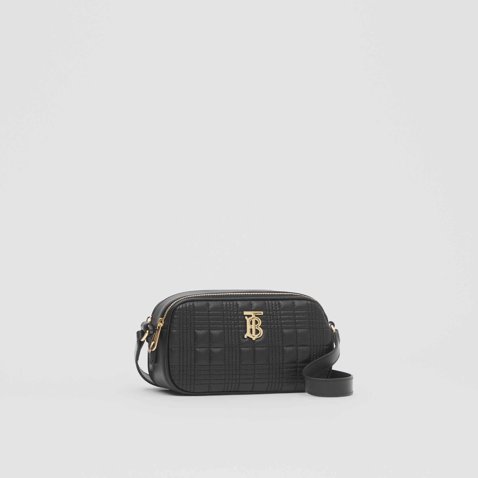Mini Quilted Lambskin Camera Bag in Black   Burberry United Kingdom - gallery image 7