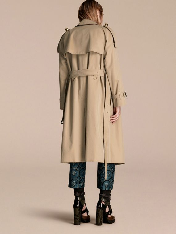 Honey Deconstructed Trench Coat with Regimental Piping - cell image 2