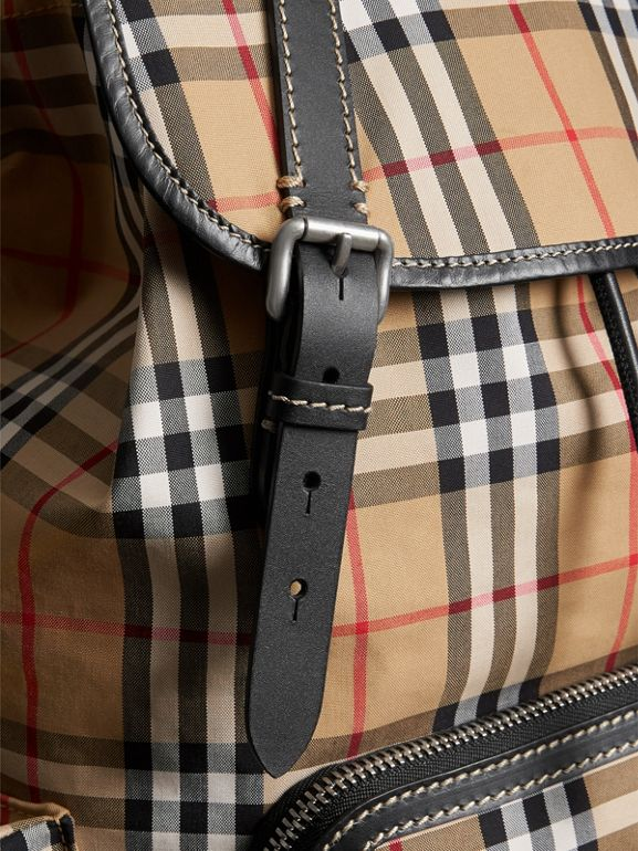 The Large Rucksack in Vintage Check in Antique Yellow | Burberry - cell image 1