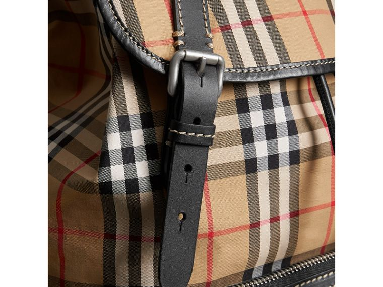 The Large Rucksack in Vintage Check in Antique Yellow - Men | Burberry United Kingdom - cell image 1