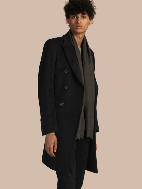 Double-breasted Wool Cashmere Tailored Cashmere Coat