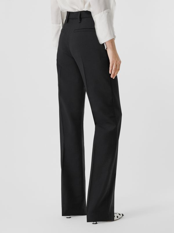 Pocket Detail Wool Mohair Tailored Trousers in Black - Women | Burberry - cell image 2