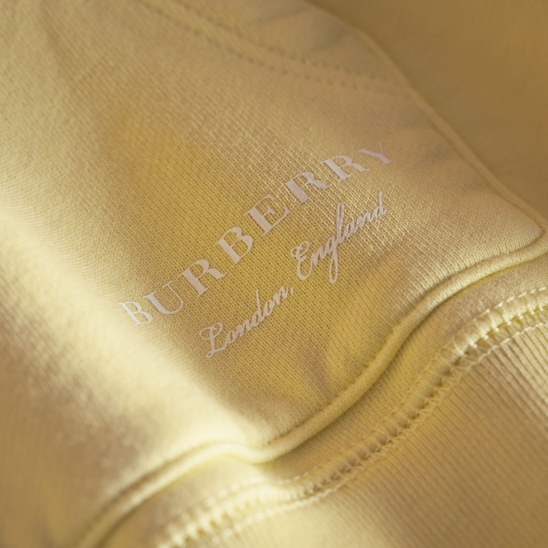 Pigment-dyed Cotton Jersey Sweatshirt in Pale Yellow - Boy | Burberry - gallery image 2