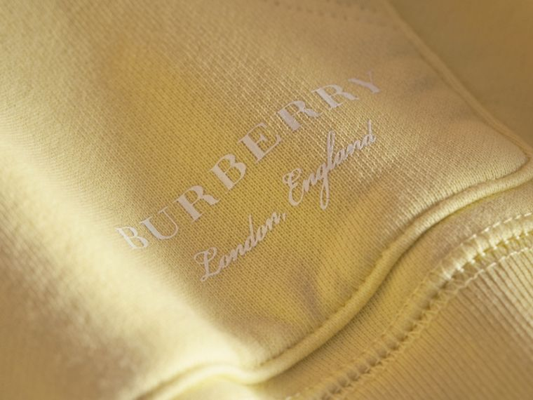 Pigment-dyed Cotton Jersey Sweatshirt in Pale Yellow - Boy | Burberry - cell image 1