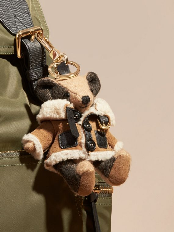 Thomas Bear Charm in Shearling Aviator Jacket - cell image 2