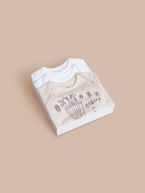 Printed Cotton Three-piece Baby Gift Set | Burberry Hong Kong - cell image 3