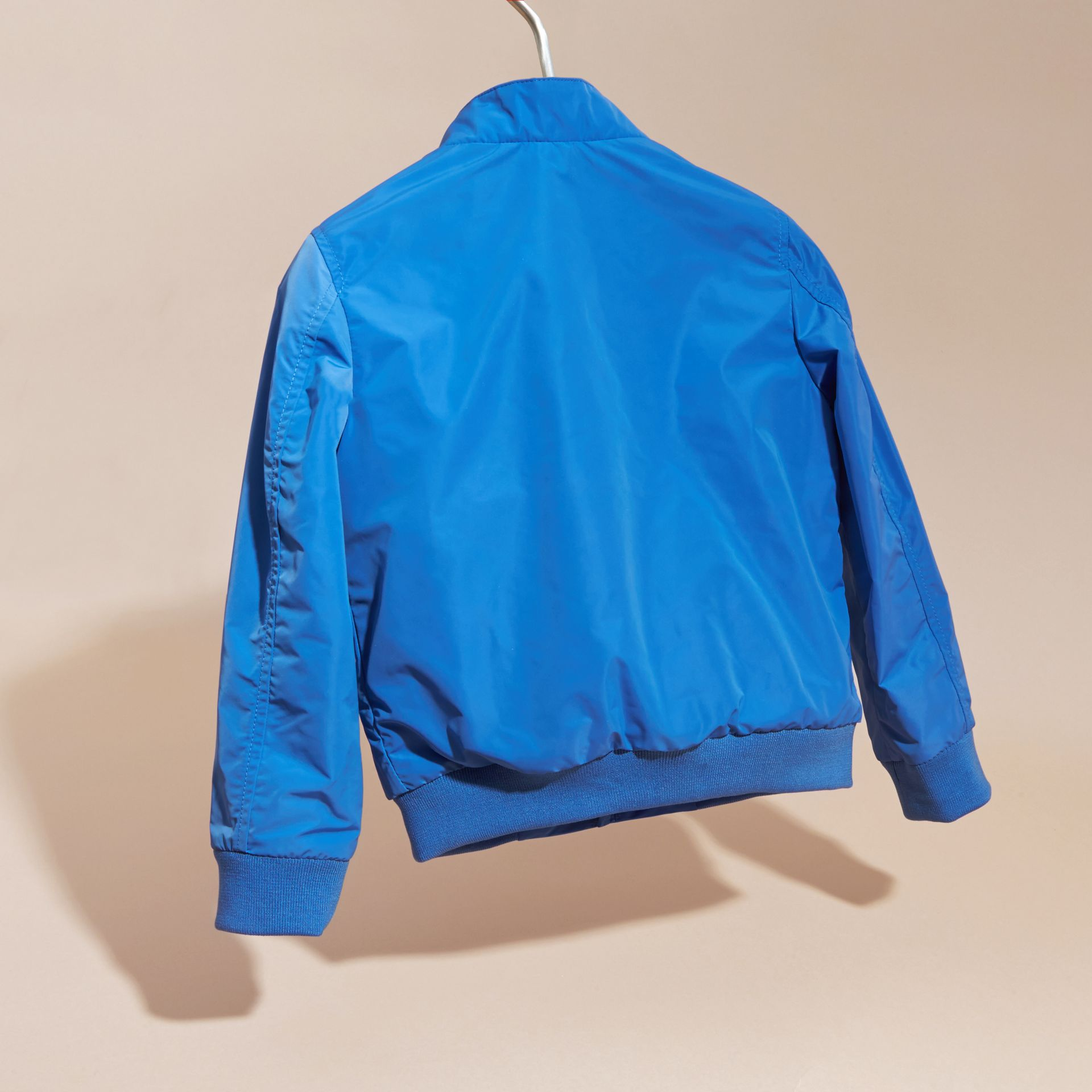 Bright hydrangea blue Packaway Blouson - gallery image 4