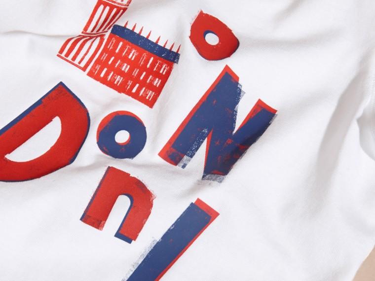 Rosso parata T-shirt in cotone con motivo London - cell image 1