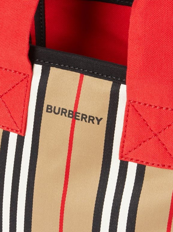 Icon Stripe Cotton Tote Bag in Honey - Children | Burberry - cell image 1