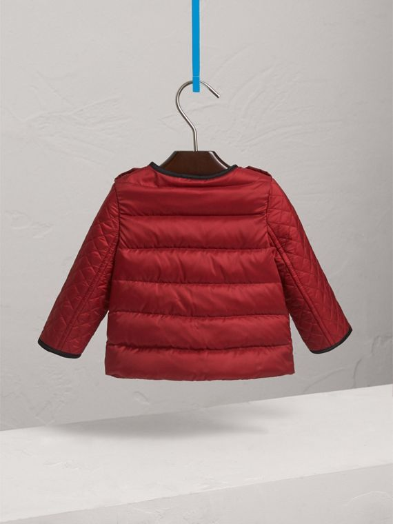 Down-filled Quilted Jacket in Crimson Red | Burberry Singapore - cell image 3