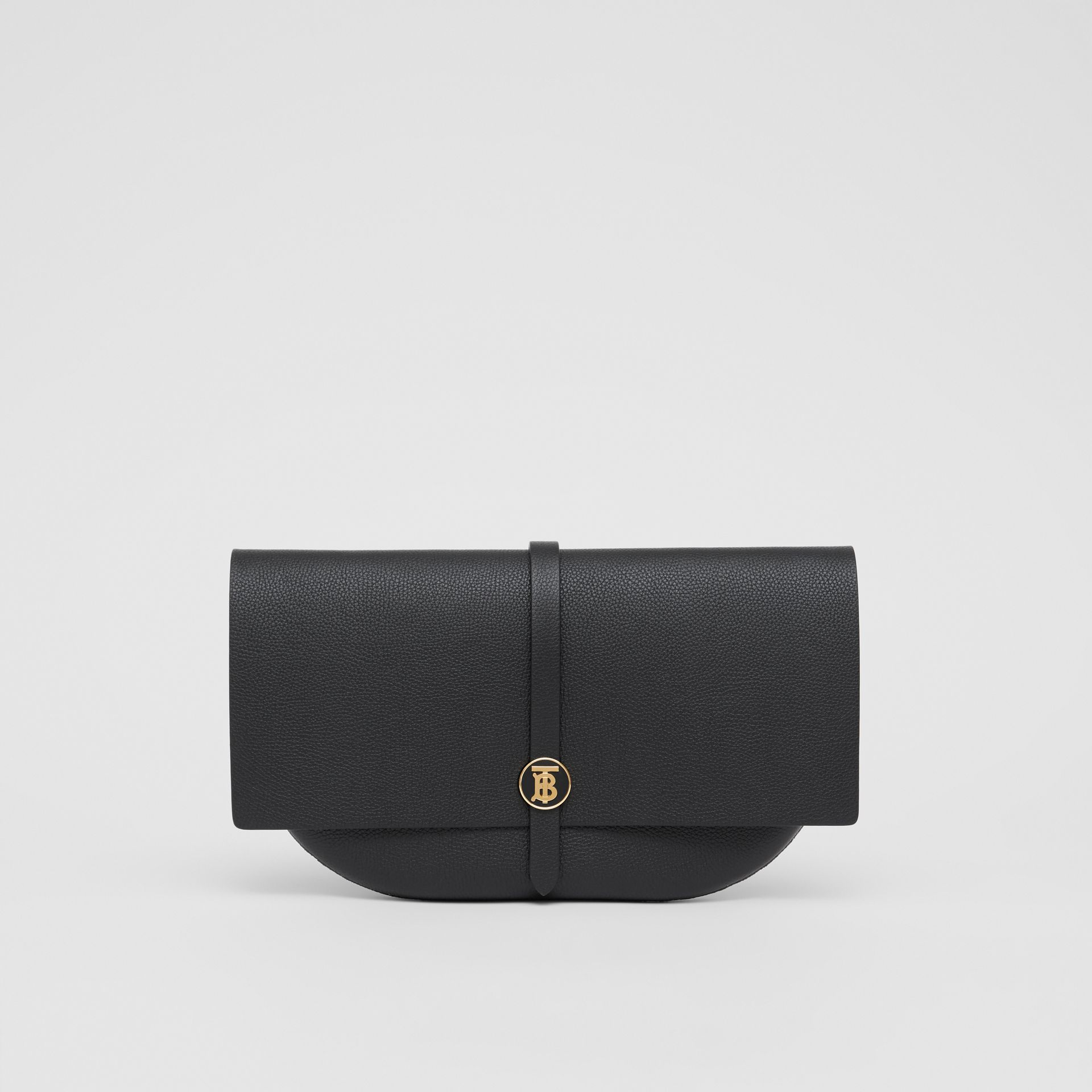 Grainy Leather Anne Clutch in Black - Women | Burberry United Kingdom - gallery image 0