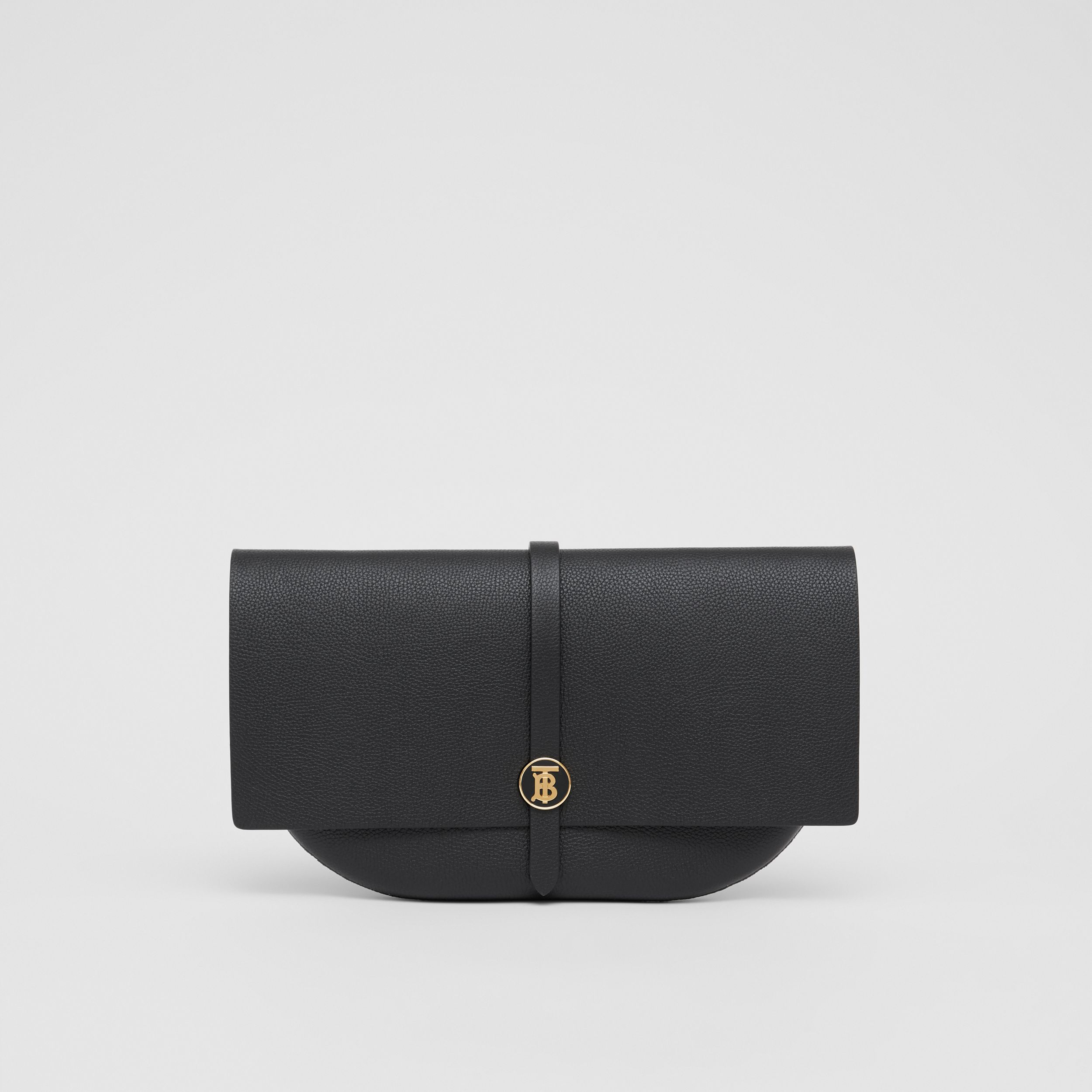 Grainy Leather Anne Clutch in Black - Women | Burberry Australia - 1