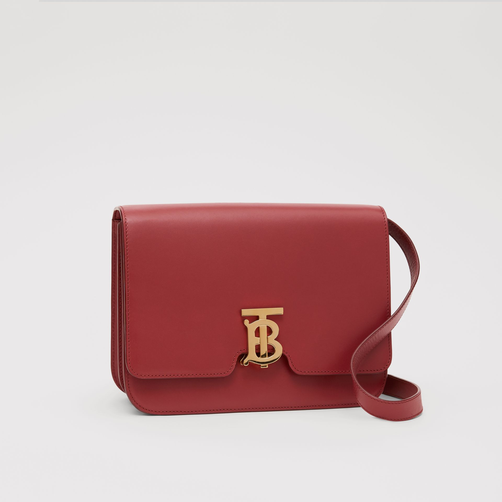 Medium Leather TB Bag in Crimson - Women | Burberry United Kingdom - gallery image 6
