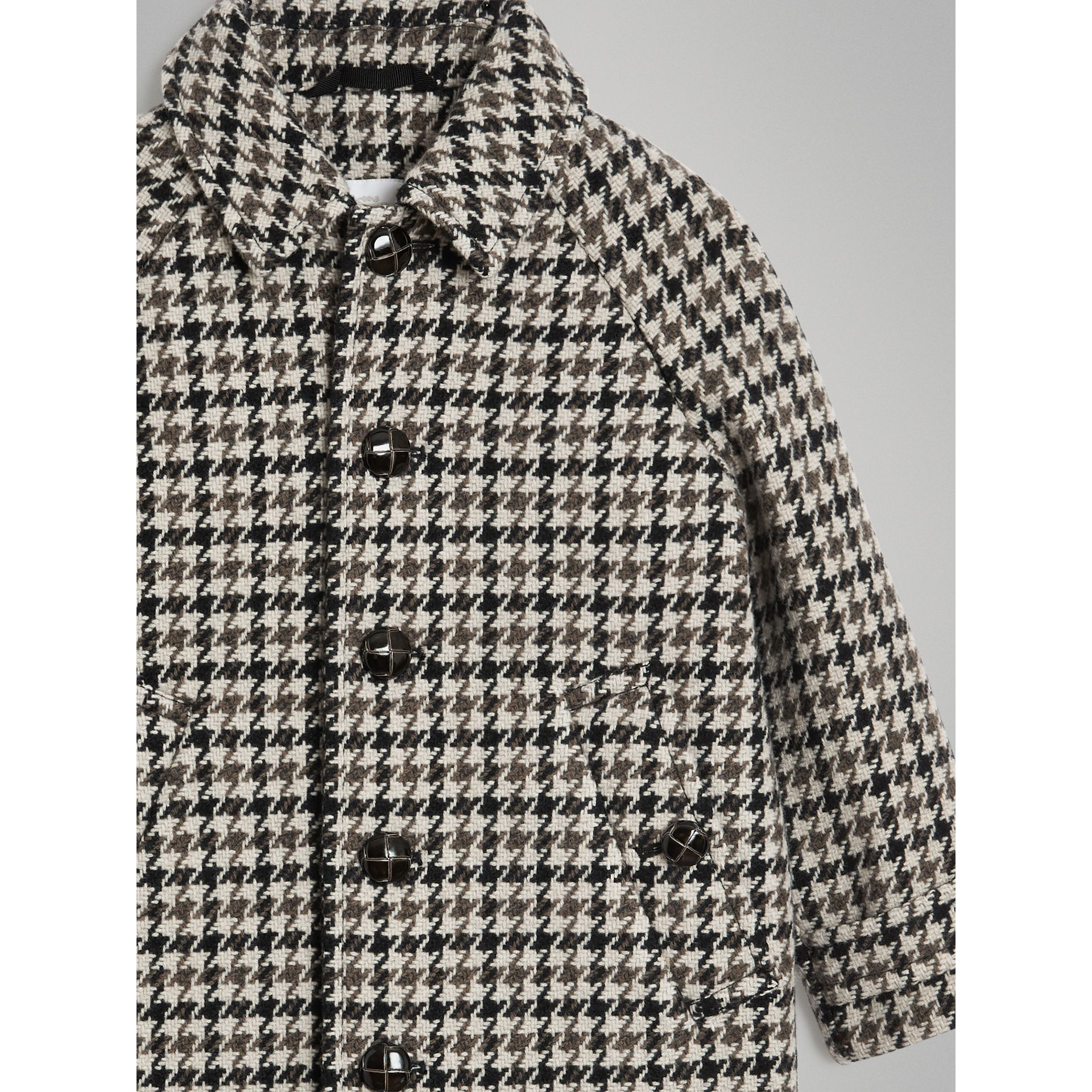 Houndstooth Check Wool Cashmere Blend Coat in Mid Grey | Burberry - gallery image 5