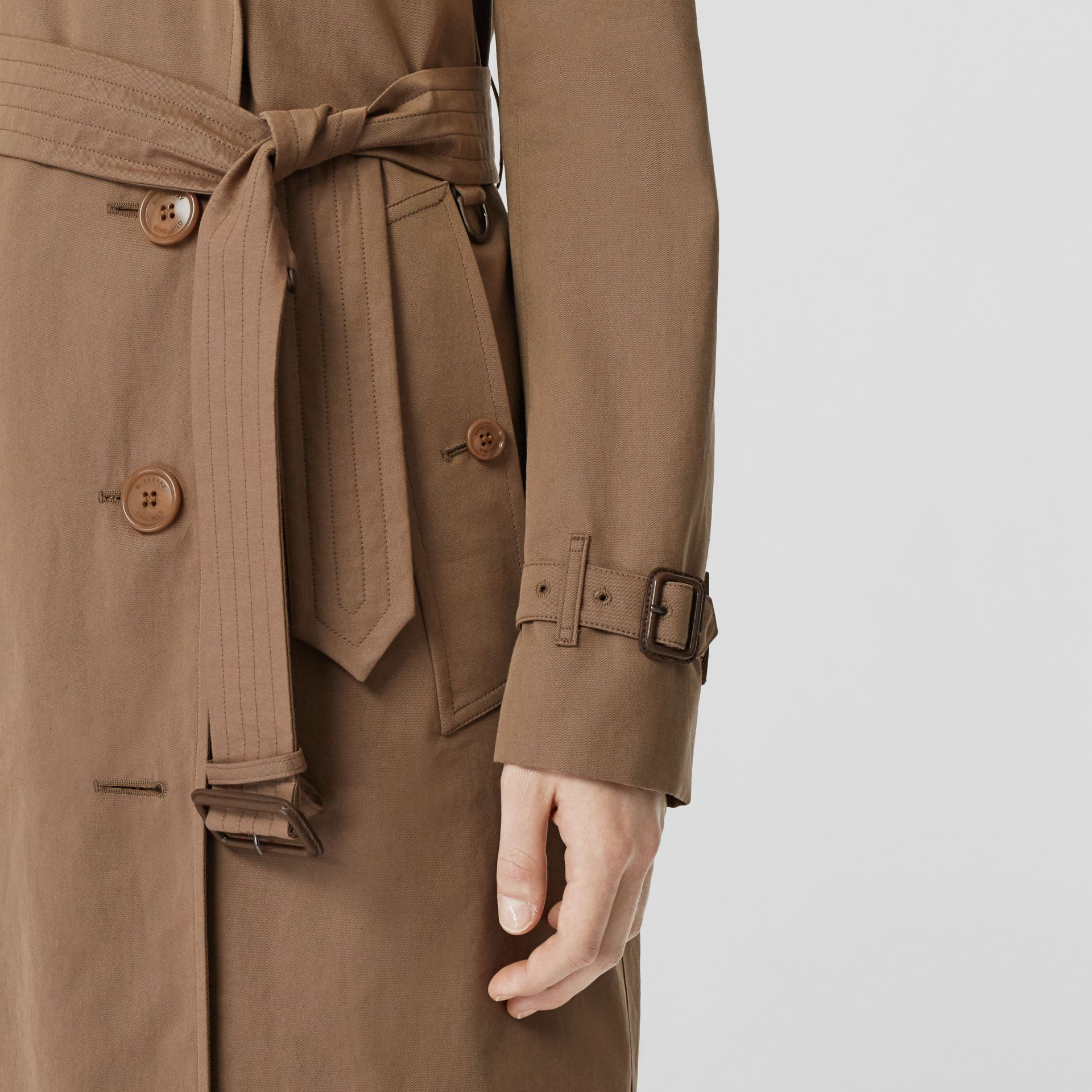 Tropical Gabardine Trench Coat in Taupe - Women | Burberry Singapore - gallery image 1