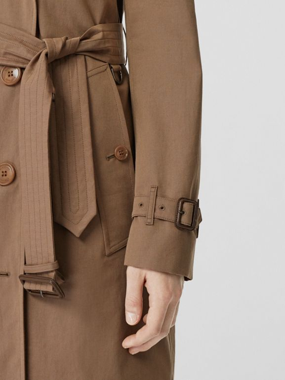 Tropical Gabardine Trench Coat in Taupe - Women | Burberry United Kingdom - cell image 1