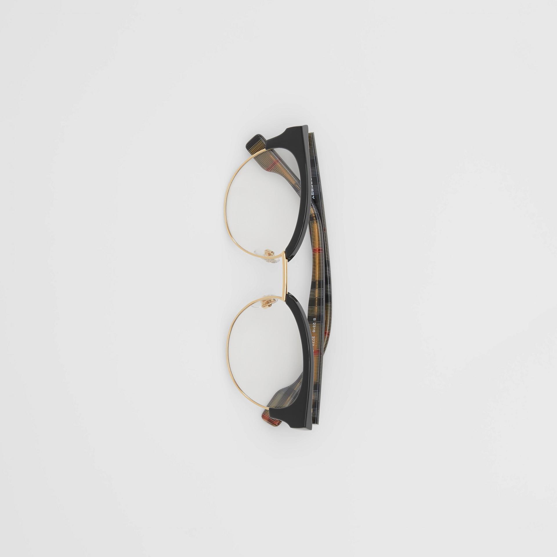 Cat-eye Optical Frames in Black/beige - Women | Burberry - gallery image 3