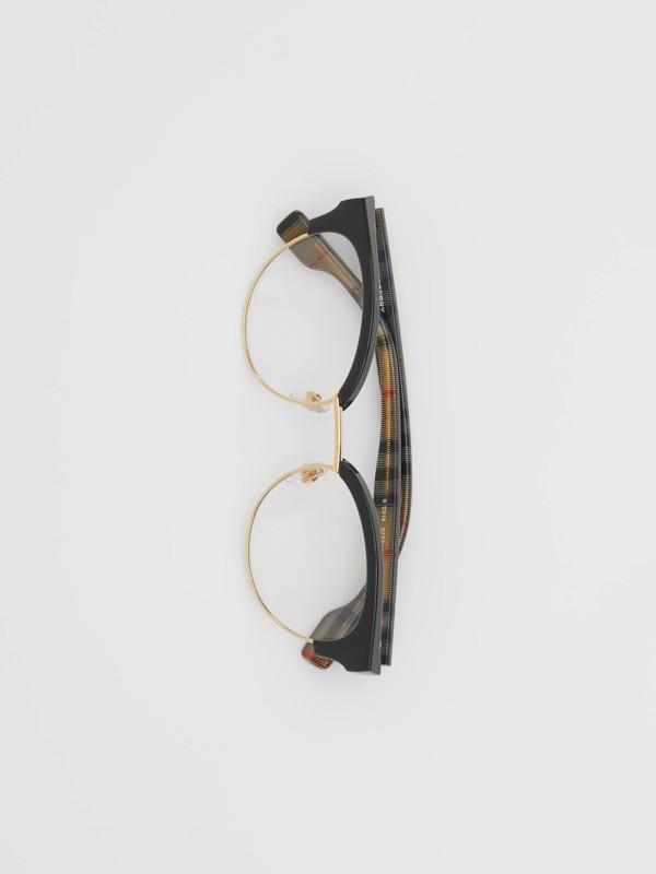 Cat-eye Optical Frames in Black/beige - Women | Burberry - cell image 3