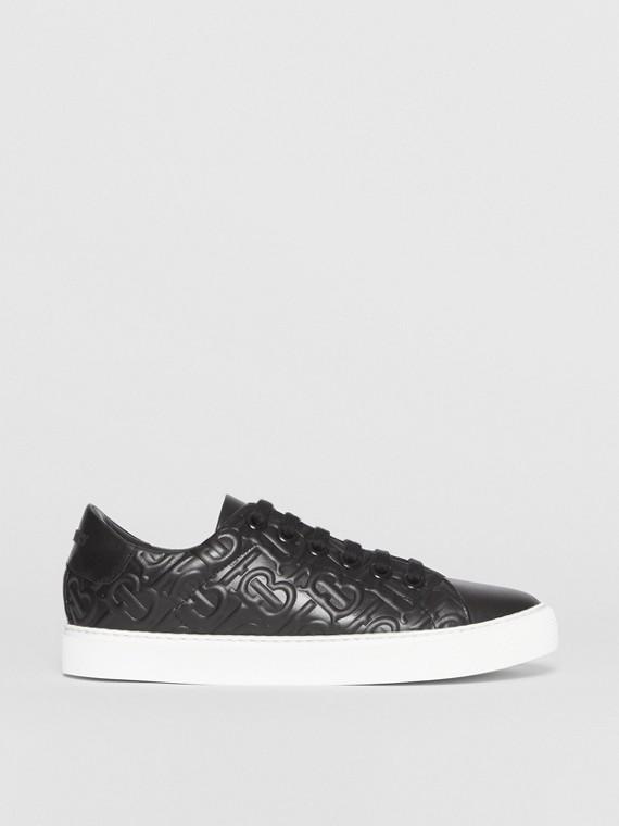 Sneakers en cuir Monogram (Noir)