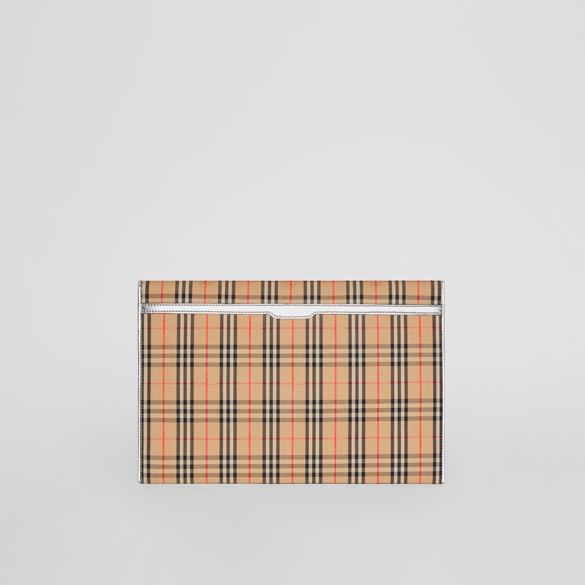 Large 1983 Check Envelope Pouch in Silver - Women | Burberry - gallery image 7