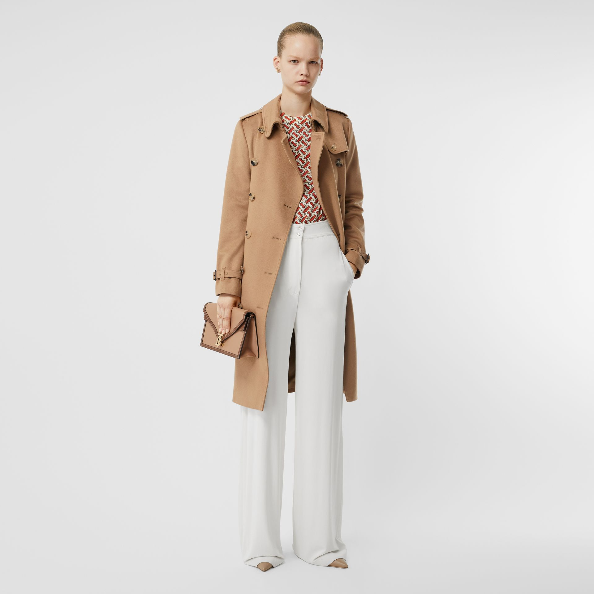 Cashmere Trench Coat in Mid Camel - Women | Burberry - gallery image 0