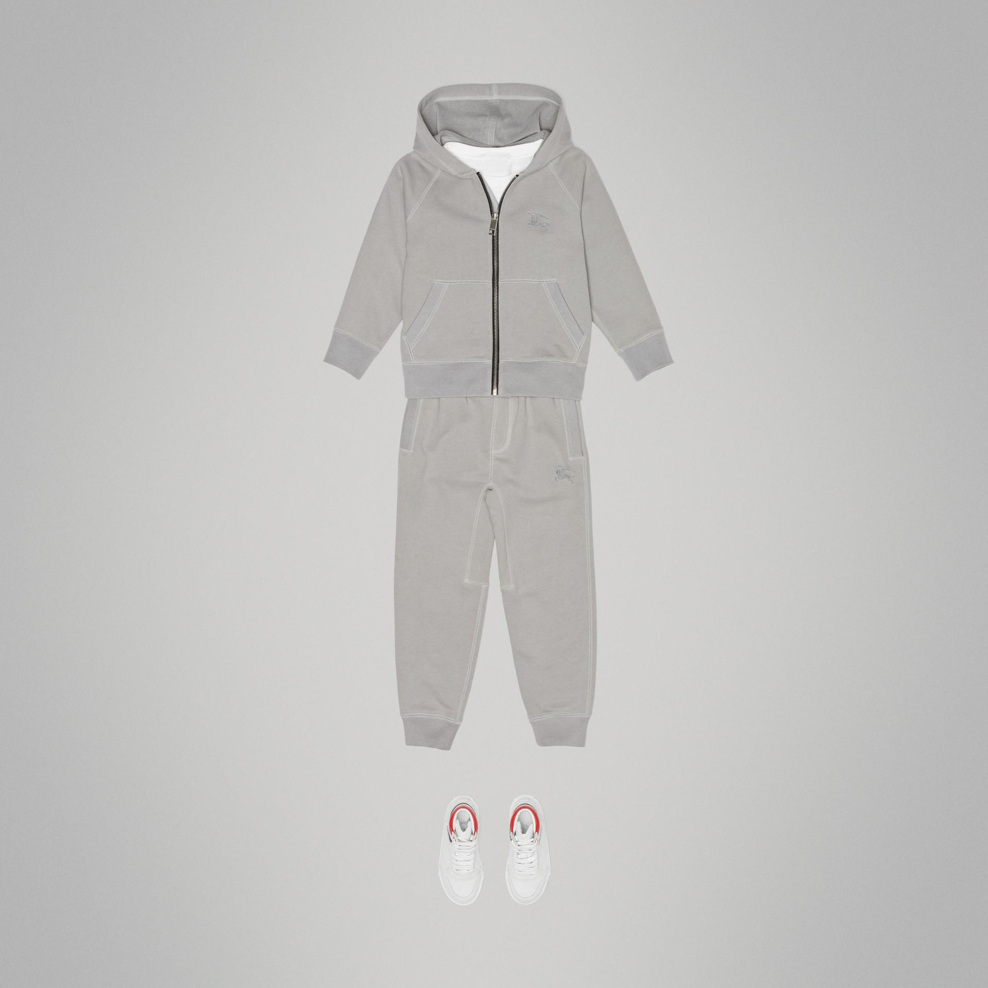 Pantalones deportivos en tejido jersey de algodón (Mezcla  Gris Tiza) | Burberry - imagen de la galería 2