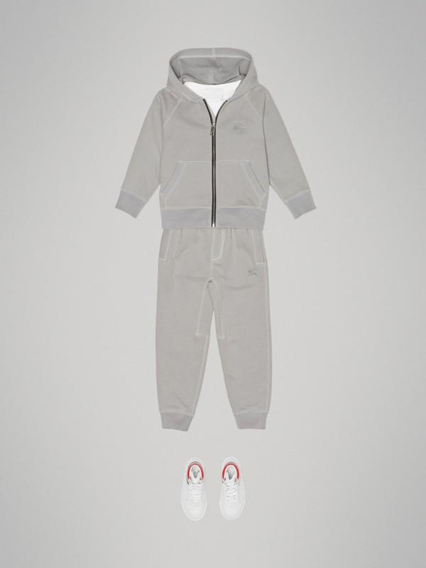 Pantalones deportivos en tejido jersey de algodón (Mezcla  Gris Tiza) | Burberry - cell image 2
