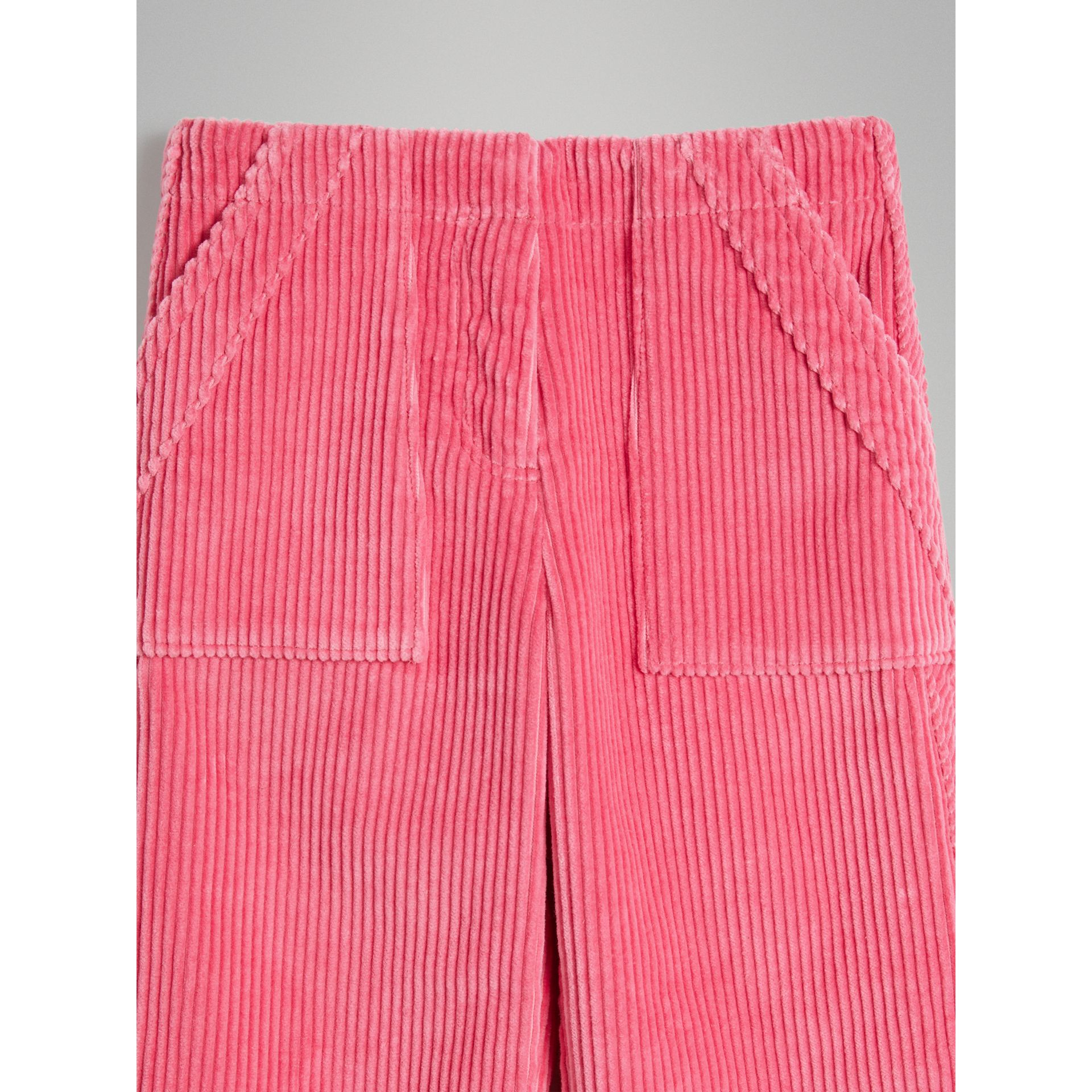 Corduroy Wide-leg Trousers in Bright Rose | Burberry - gallery image 5