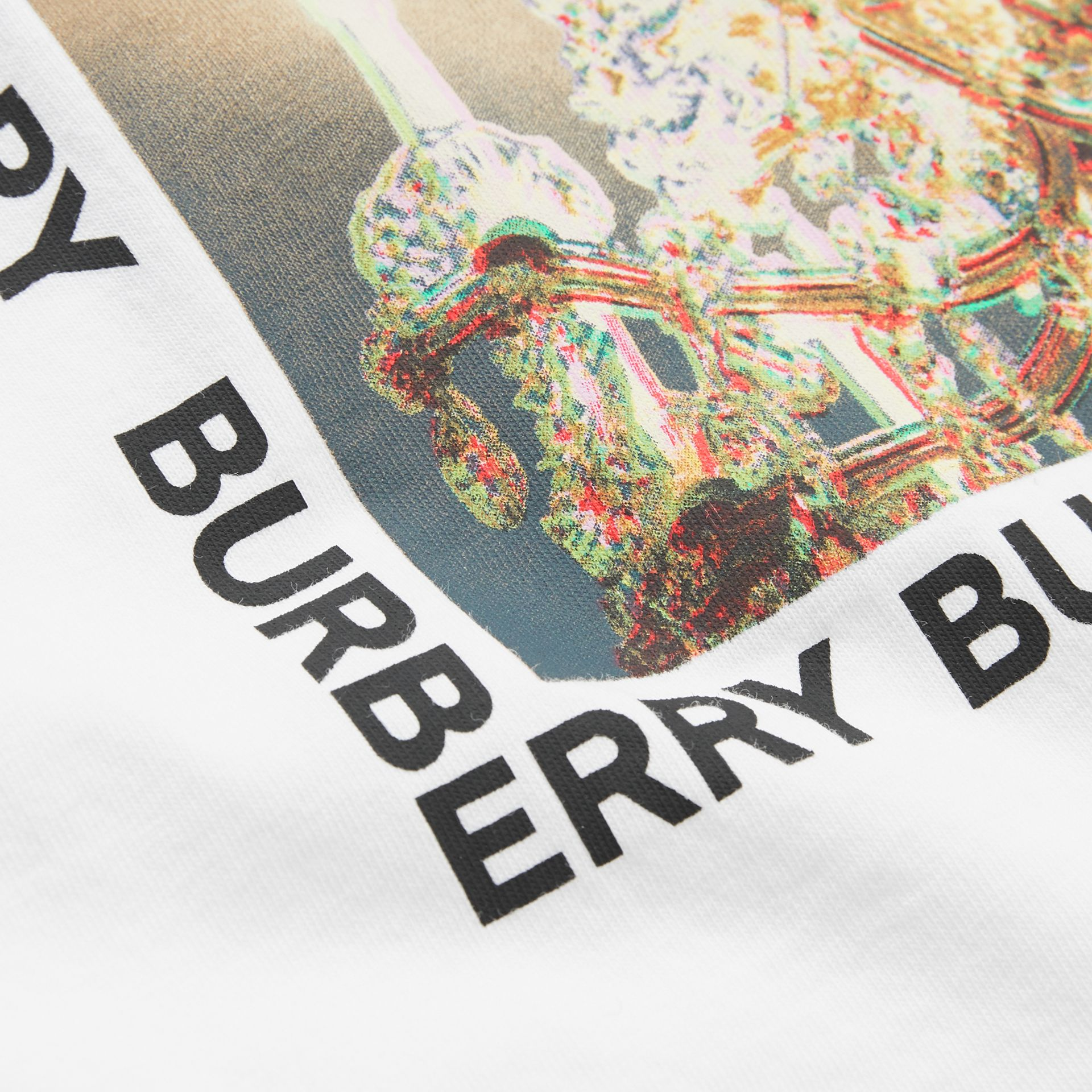 Chandelier Print Cotton T-shirt in White - Children | Burberry - gallery image 1
