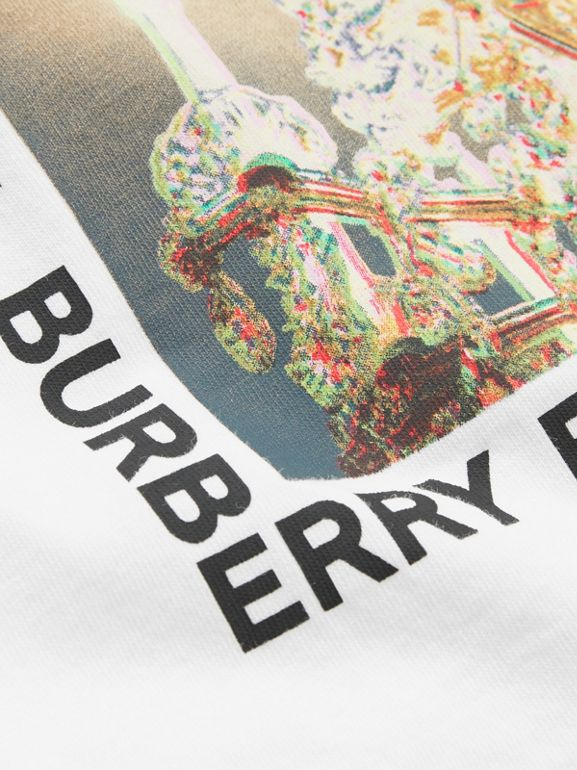 Chandelier Print Cotton T-shirt in White - Children | Burberry - cell image 1