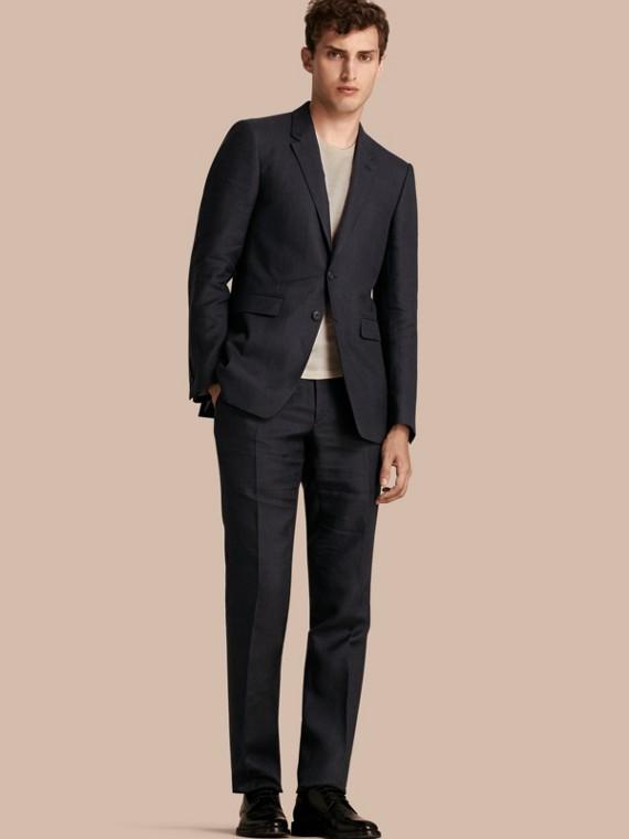 Modern Fit Linen Wool Silk Jacket