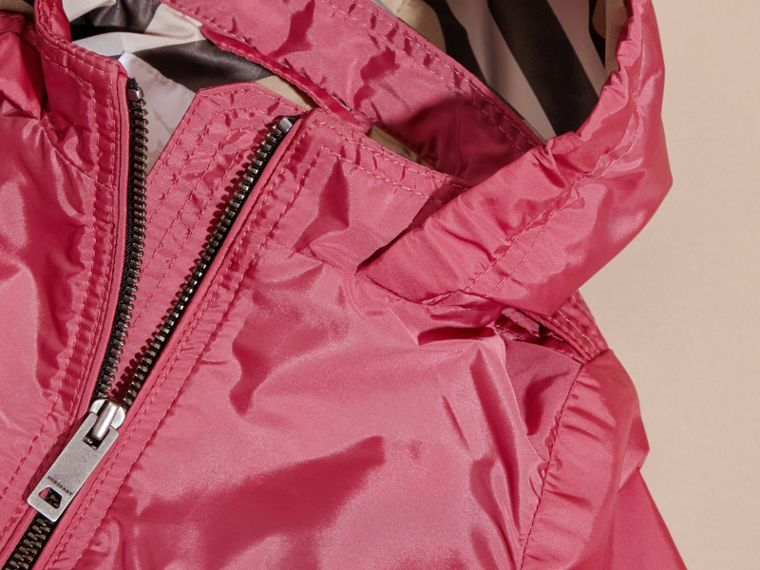 Hooded Packaway Technical Jacket in Pink Azalea - cell image 1