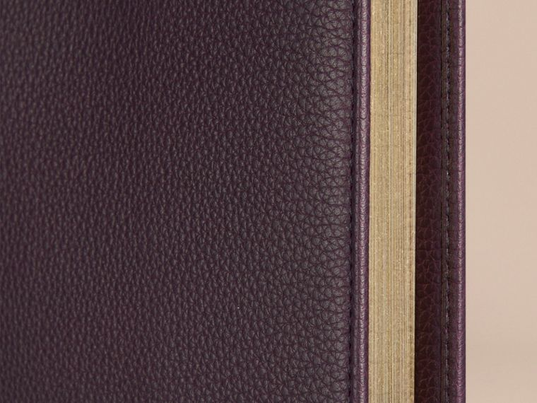 Grainy Leather A4 Notebook in Dark Amethyst - cell image 1