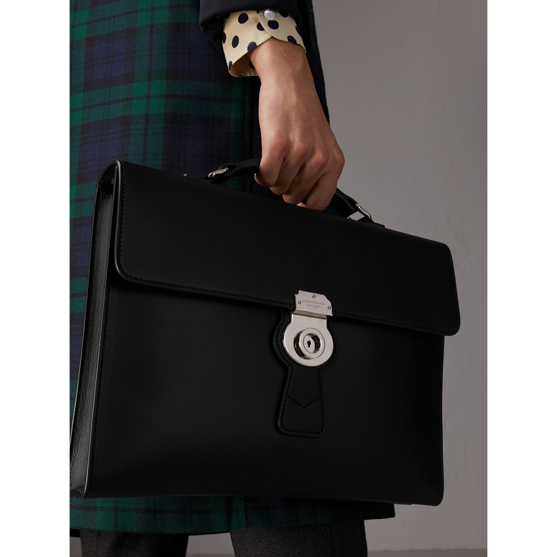 The Large DK88 Document Case in Black - Men | Burberry - gallery image 3