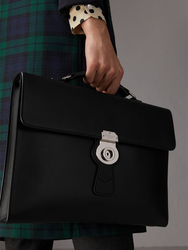 The Large DK88 Document Case in Black - Men | Burberry - cell image 2