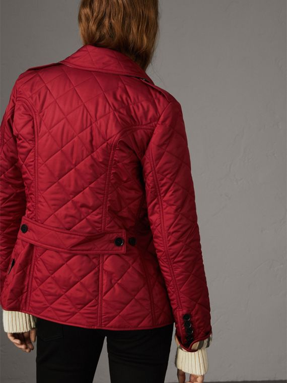 Diamond Quilted Jacket in Parade Red - Women | Burberry - cell image 2
