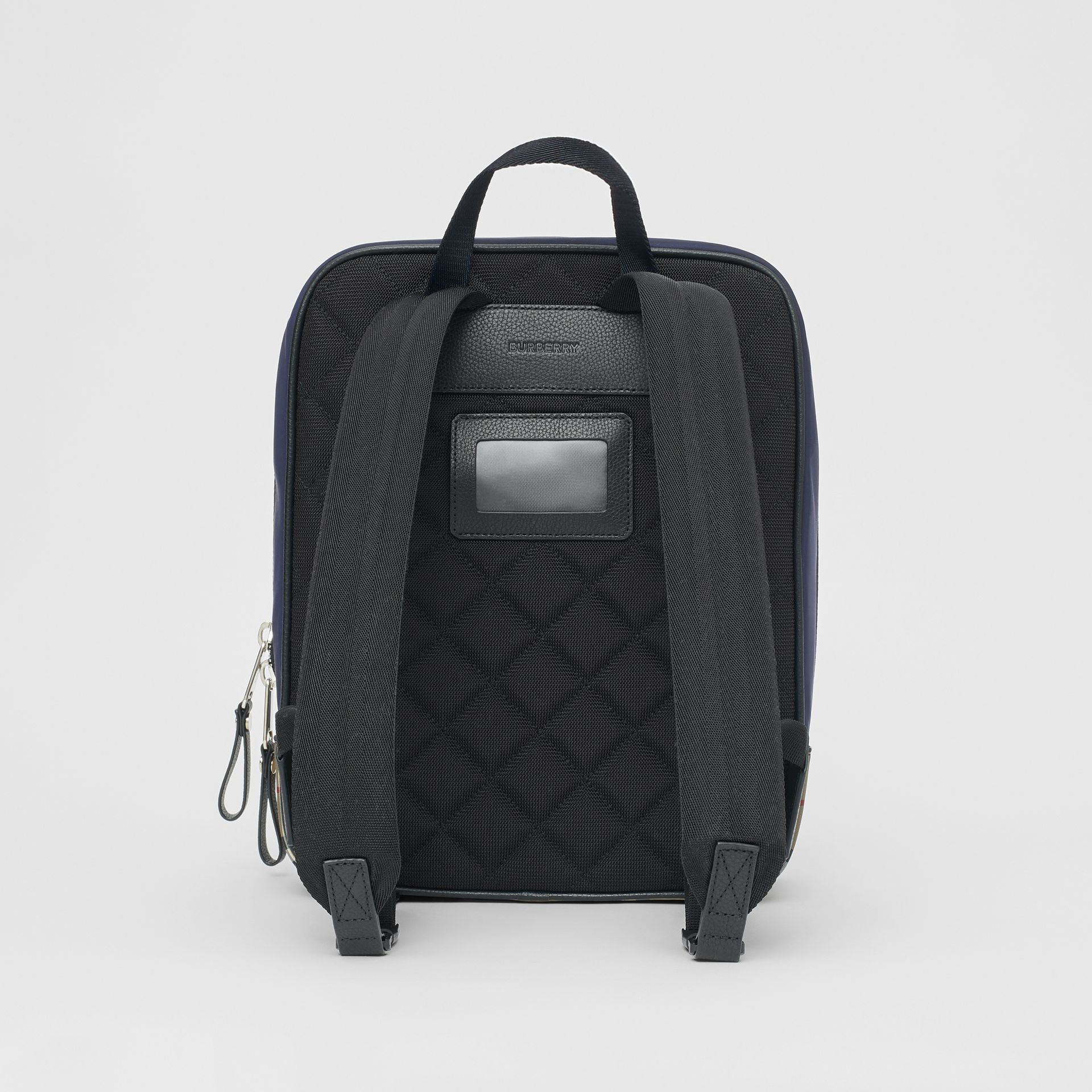 Colour Block Pocket Detail Vintage Check Backpack in Cobalt Blue - Children | Burberry - gallery image 5